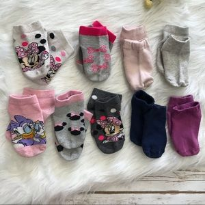 Minnie Mouse and Old Navy Socks girls
